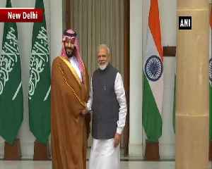 Saudi Arabia Crown Prince Mohammed bin Salman meet PM Modi in Delhi [Video]