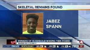 Remains of teenager Jabez Spann found nearly a year and a half after his disappearance in Sarasota [Video]