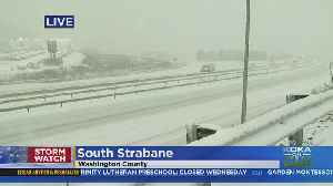 Snow Piling Up On Roads In Washington County [Video]