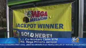 Long Island Co-Workers Claim $176 Million Jackpot [Video]