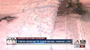 Overnight snow making for slow, slick morning drive [Video]