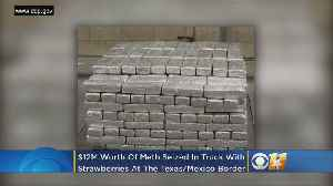 Border Agents Stop Truck Carrying Frozen Strawberries, Find Over $12M Worth Of Meth [Video]