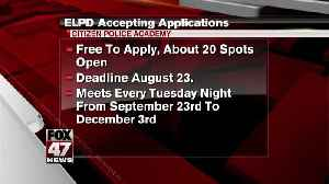 ELPD accepting apps for Citizen Police Academy [Video]