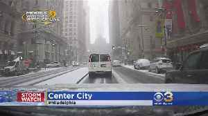 Mobile Weather Watcher: Tracking Snow In Center City [Video]