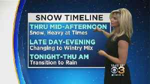 Midday Weather Forecast: Timing Snow, Sleet, Ice And Rain [Video]