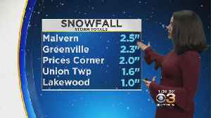 Philadelphia Weather: Steady Snowfall Will Continue Through New Few Hours [Video]