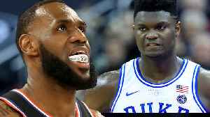 Zion Williamson REACTS To LeBron Comparison As Duke Charges Super Bowl Ticket Prices For UNC Game! [Video]