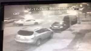 Newly-Released Surveillance Video Shows Suspected Drunk Driver Smashing into Parked Cars, Ejecting Passenger [Video]