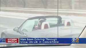 Brave Soul Cruises Down Snowy LIE In Convertable [Video]