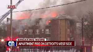 Apartment fire on Detroit's west side [Video]