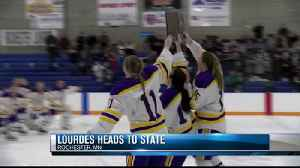 Lourdes girls hockey aims for state title [Video]