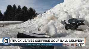 Thousands of golf balls spill onto Rock County highway overnight [Video]