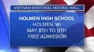 Vietnam Memorial Moving Wall coming to Holmen [Video]