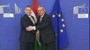 Raw Moment: Jean-Claude Juncker and Viktor Orban in happier times [Video]