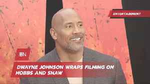 Dwayne Johnson Finishes Hobbs And Shaw [Video]