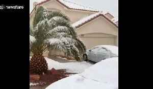 Surprise snow strikes Las Vegas for first time in years [Video]