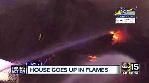 Tempe home goes up in flames [Video]