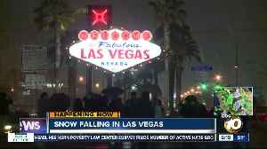 Las Vegas showered with snow [Video]