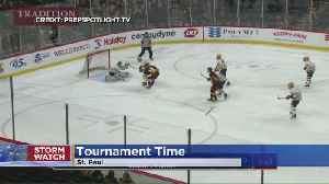 Snow Can't Stop Girls' State Hockey Tournament [Video]