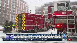 Fire at senior apartment high rise displaces residents [Video]