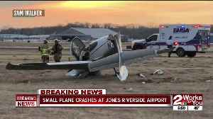 Small plane crashes at Jones Riverside Airport [Video]