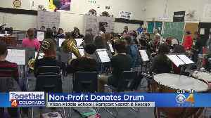 Middle School Gets New Drum Thanks To Search And Rescue Crews [Video]