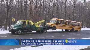 2 Taken To Hospital After Crash Involving School Bus In Bucks County [Video]