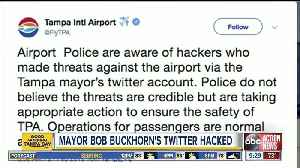 Tampa Mayor Bob Buckhorn's Twitter account hacked weeks before mayoral election; police say threats not credible [Video]