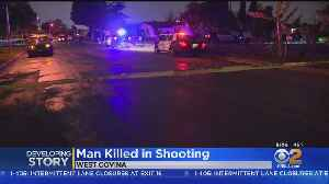 Man Killed, Woman Wounded In West Covina Shooting [Video]