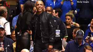 Barack Obama's Fashionable 'O-bomber' Jacket At Duke-UNC Game Causes Social Media Stir [Video]