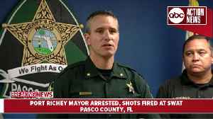 Port Richey Mayor arrested after shots fired at SWAT | Pasco New Conference [Video]