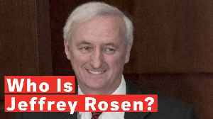 News video: Jeffrey Rosen Nominated For Deputy Attorney General
