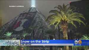 Las Vegas Gets Snow On The Strip, Dozens Of Flights Canceled At McCarren Airport [Video]