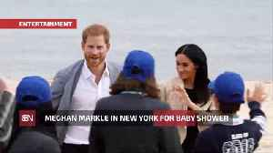 News video: Duchess Meghan Secretly Comes To New York For A Baby Shower