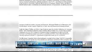 Federal Complaint Filed Against Mayo Clinic [Video]
