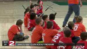 Comets player visits youth hockey club [Video]