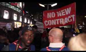 SCENES!!! Arsenal Fans Protesting At The Emirates About Arsene Wenger & The Board [Video]