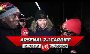 Arsenal 2-1 Cardiff City | Lacazette Never Stops! He Was Hungry For The Goal! (Ty & Curtis) [Video]