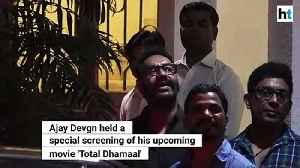 Total Dhamaal: Ajay Devgn holds special screening before movie release [Video]