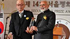 PM Modi gets Seoul Peace Prize in South Korea, gives money to Namami Gange fund | Oneindia News [Video]