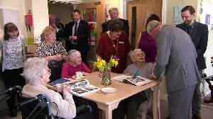 Prince Charles' visit to care home makes residents smile [Video]