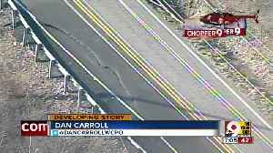 Chopper 9 Exclusive:  Landslide causes  cracks in Old Route 8 [Video]