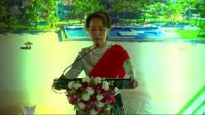 Myanmar's Suu Kyi woos investors to crisis-hit Rakhine, decries 'negative' focus [Video]