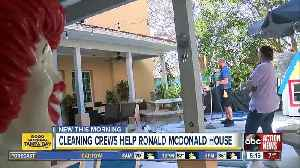 Crews donate time to clean St. Pete's Ronald McDonald Houses [Video]