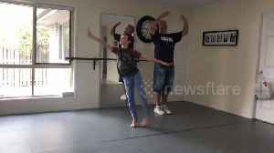 The new Billy Elliot? Boy and his dad learn to ballet dance together [Video]