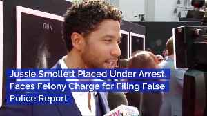 News video: Jussie Smollett Is Taken To Jail For False Police Report