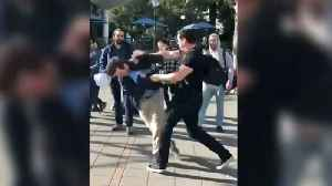 Caught on Camera: Conservative Assaulted on UC Berkeley Campus [Video]