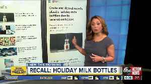 Crate and Barrel recalls plastic holiday milk bottles due to laceration hazard [Video]