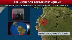 7.5 Magnitude Earthquake Hits Ecuador [Video]