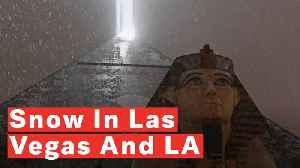 Rare Sightings Of Snow In Las Vegas And LA [Video]
